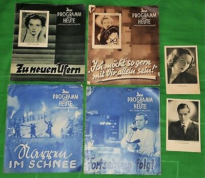 Mixed Lot Of 1930's German Movie Programmes & Actor Pictures