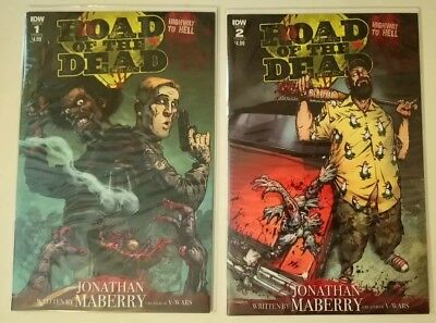 Road of the Dead Highway to Hell #1 Cover A and #2 Cover A IDW NM