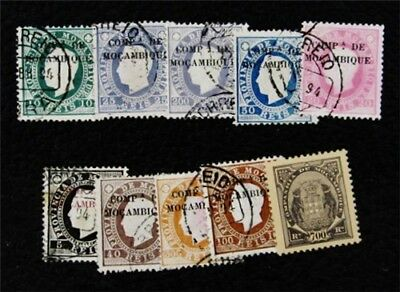 nystamps Portugal Mozambique Stamp # 1 - 9 40 Used $30