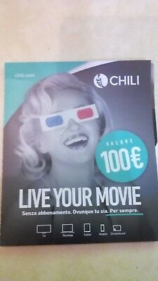 Gift Card CHILI Cinema da 100 euro