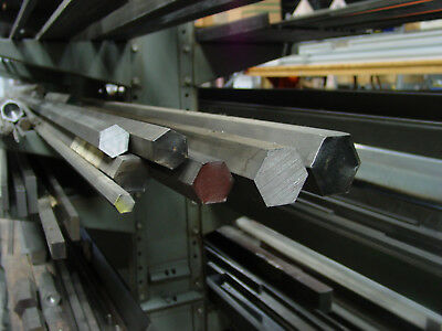 """1018 Steel Hex Bar 1/4 5/16 3/8 7/16 1/2 thru 2.0"""" SOLD BY FOOT up to 12 feet"""
