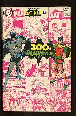 Batman #200 Very Good+ 4.5 Neal Adams Cover 1968 Dc Comics