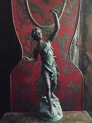 Antique All Original French Spelter Statue/Figure In need of Refurbishment