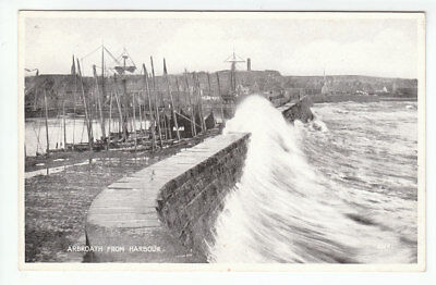 Arbroath Harbour c1883 Valentines 3559 Card Published 1947 Old Postcard Unposted