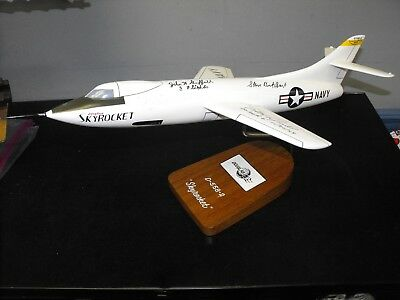 Wood Scale Model Of Douglas D 558-Ii Signed By Test Pilots - Scott Crossfield