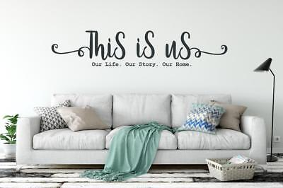 This Is Us Our Life Our Story Our Home Vinyl Decal Wall Sticker Words Home Decor