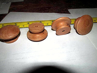 "10 Pieces New Unfinished Cherry 1 1/2"" Round Wood Cabinet Knobs / Pulls Ki"