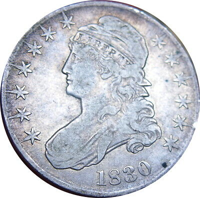 1830 Capped Bust Half Dollar Large 0 Choice VF Problem Free Condition - ZKP