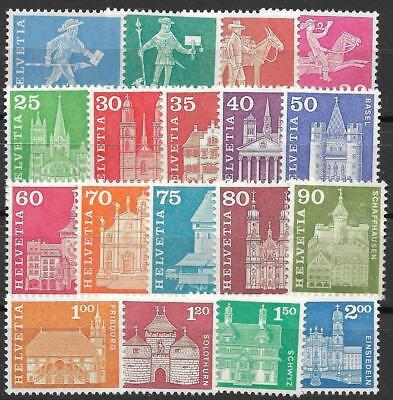 SWITZERLAND 1960 Definitive set 18v MNH / T0161 f