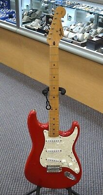 1994 Fender Stratocaster MM Mexico Made Squier Series Red Electric Guitar