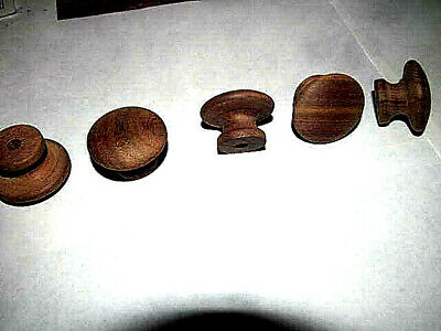 "50 Pieces New Unfinished Walnut 1 1/4"" Round Wood Cabinet Knobs / Pulls Kd"