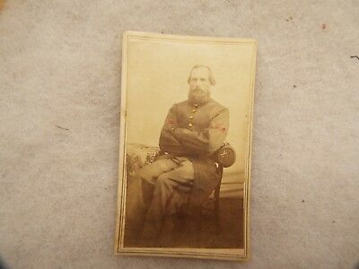 Civil War  SOLDIER CABINET CARD  PHOTO ,COLORED ,,GILMAN  CORPORAL