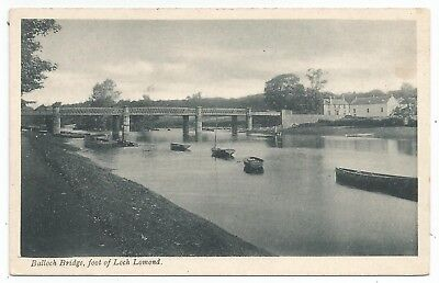 POSTCARDS-SCOTLAND-LOCH LOMOND-PTD. Balloch Bridge and River Leven.