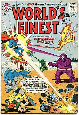 World's Finest # 134 - Batman/robin/superman - Green Arrow And Speedy.