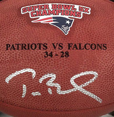 9679aaa75 TOM BRADY Signed Authentic Duke 5x Champ Super Bowl 51 Football STEINER LE  12 51