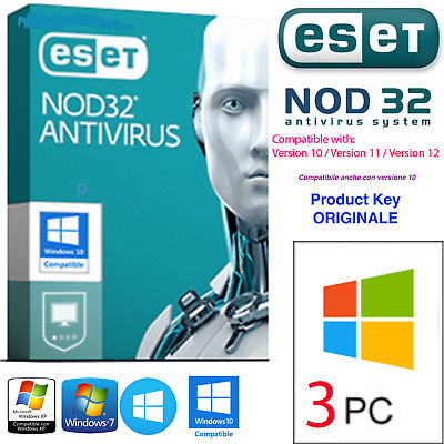 🌟ESET NOD32 Antivirus 2019 💥Product Key 10 YEARS / ANNI - 3 PC • Up to 2028 💥