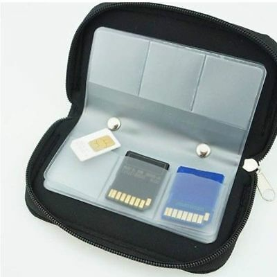 SDHC MMC CF SD Carrying Pouch Case Holder Memory Card Storage Wallet Black