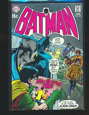 Batman # 222 - Beatles take-off & Neal Adams cover VG/Fine Cond.