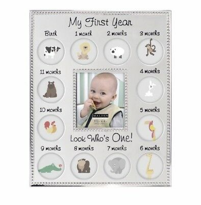 My First Year Baby Photo Frame Home Hanging Wall Collage Picture Holder Display