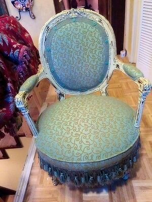 FABULOUS LOUIS XVI ANTIQUE FRENCH FAUTEUIL CHAIR LATE 1700's !