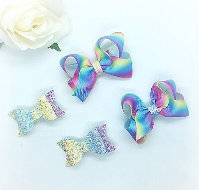 handmade hair bows, Includes All Bows In Picture.