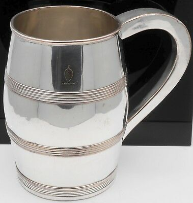 EARLY OLD SHEFFIELD PLATE CIDER / BEER MUG TANKARD C. 1790 - THOMAS LAW & Co