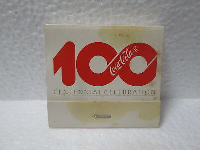 Coca~Cola 100 Years Celebration May 7-10 1986 Book Of Matches, None Used