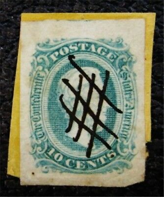 nystamps US CSA Confederate Stamp # 11 Used $20