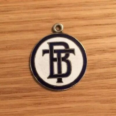 Brisbane Trams. 1950-60s Identification Enameled Tag. Very Nice Condition.
