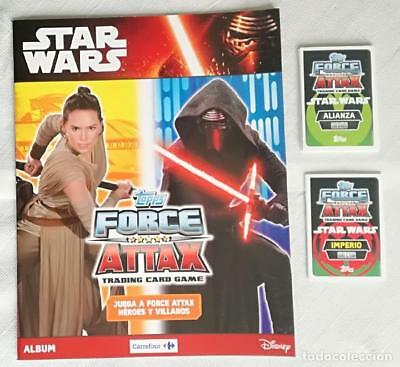 Album Star Wars: Topps Force Attax Tradding cards game - Nuevo + 25 cromos