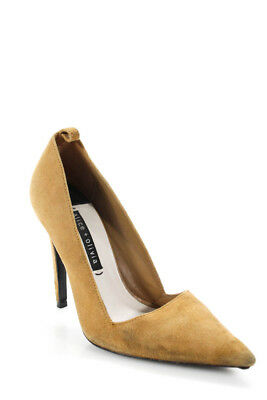 f170559e8b9d ALICE + OLIVIA Womens Pointed Toe High Heel Pumps Brown Suede Size ...