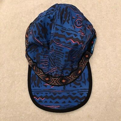 c86d44841ce VTG Kavu Hat Dark Khaki Canvas 4 Panel Large Cap Adjustable Ball Cap Tribal  USA.