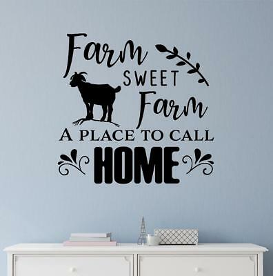 Farm Sweet Farm A Place To Call Home Vinyl Decal Wall Sticker Words Home Decor
