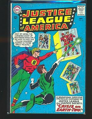 Justice League of America # 22 G/VG Cond. centerfold detached from top staple