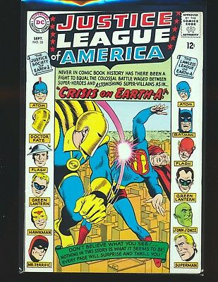 Justice League of America # 38 - Crisis on Earth-A Fine+ Cond.
