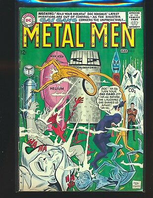 Metal Men # 6 VG+ Cond. cover detached from bottom staple