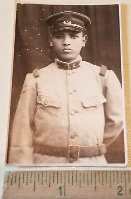 1920's 1930's Japanese Military Soldier Army 2nd Infantry Photo 2 x 3 Pre-WWII