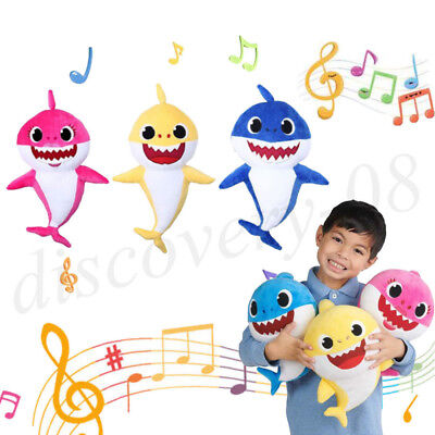 1* Baby Shark Plush Singing Plush Toys Music Doll English Song Creative Gift New
