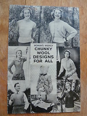 Vintage Woman's Weekly Supplement, 7 Great 60's Patterns in Chunky Yarn