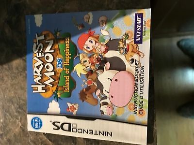 Harvest Moon Ds Island Happiness - Nintendo Ds - Instruction Manual Only
