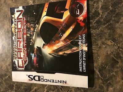 Need For Speed Carbon Own The City - Nintendo Ds - Instruction Manual Only