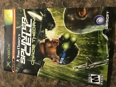 Splinter Cell Chaos Theory - Xbox - Instruction Manual Only
