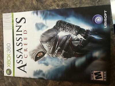 Assassins Creed - Xbox 360 - Instruction Manual Only