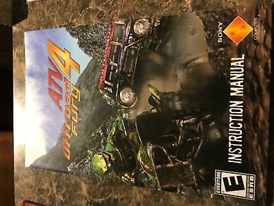 Atv Offroad Fury 4 - Playstation 2 Ps2 - Instruction Manual Only
