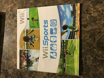 Wii Sports - Nintendo Wii - Instruction Manual Only