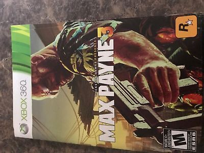 Max Payne 3 - Xbox 360 - Instruction Manual Only