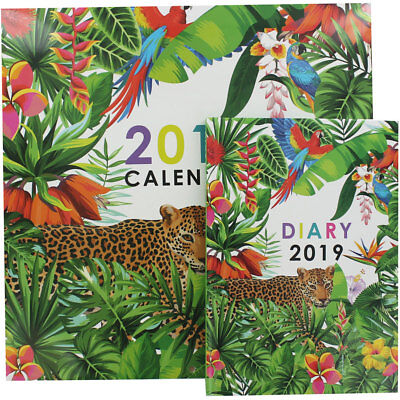 Tropical 2019 Calendar and Diary Set, January Sale, Brand New