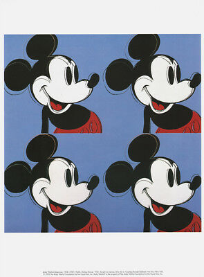 Walt Disney Art Animation Andy Warhol Mickey Mouse,Annette Funicello Major prank