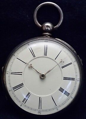 """M&W Guthrie Solid Silver Fusee """"CHRONOGRAPH"""" Pocket Watch Chester 1872"""