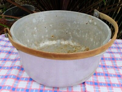Vintage Nicely Shabby Heavy Base Preserving Pan - Now Great For Garden Planter